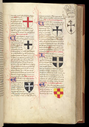Styles of Crosses from 'On Diverse Signs Depicted in Arms', in Nicholas Upton's Treatise on Arms and Military Offices